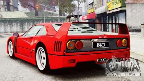 Ferrari F40 1987 for GTA 4 left view