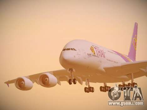 Airbus A380-800 Thai Airways International for GTA San Andreas side view