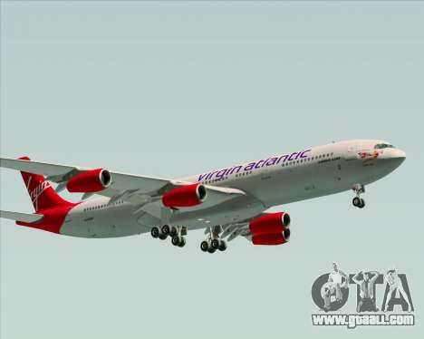 Airbus A340-313 Virgin Atlantic Airways for GTA San Andreas left view