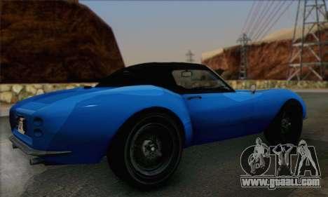 Grotti Stinger 1.0 (HQLM) for GTA San Andreas left view
