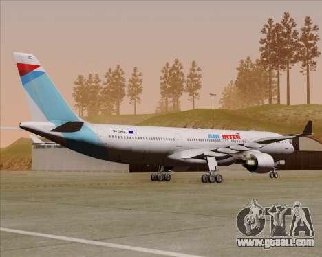 Airbus A330-300 Air Inter for GTA San Andreas right view