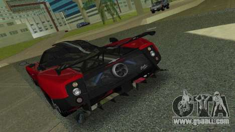 Pagani Zonda Cinque for GTA Vice City right view