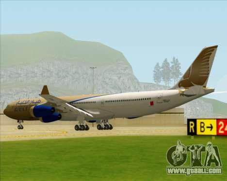 Airbus A340-313 Gulf Air for GTA San Andreas right view