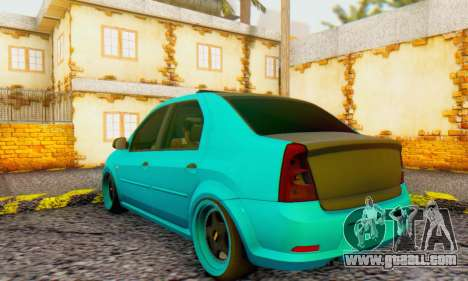 Dacia Logan Pearl Blue for GTA San Andreas right view