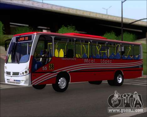 Neobus Spectrum Linea 38 Mcal. Lopez for GTA San Andreas left view
