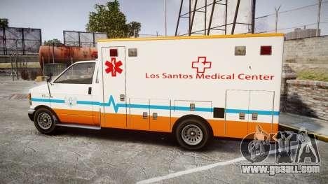 GTA V Brute Ambulance [ELS] for GTA 4 left view