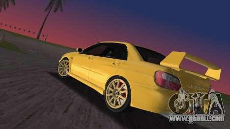 Subaru Impreza WRX 2002 Type 1 for GTA Vice City left view