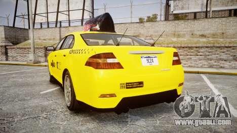 GTA V Vapid Taurus Taxi LCC for GTA 4 back left view
