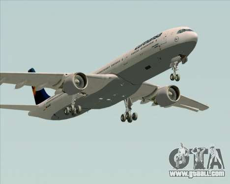 Airbus A330-300 Lufthansa for GTA San Andreas side view