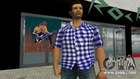 Kockas polo - sotetkek T-Shirt for GTA Vice City
