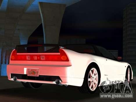 Honda NSX-R for GTA Vice City back view