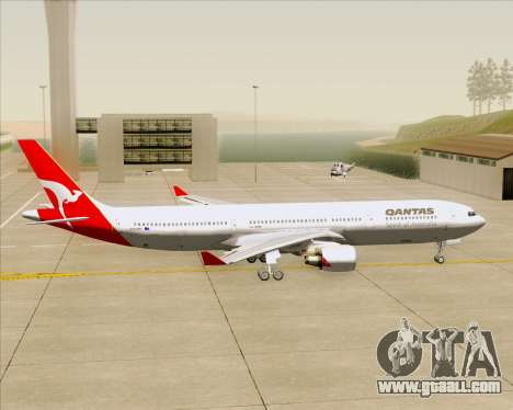 Airbus A330-300 Qantas for GTA San Andreas back view