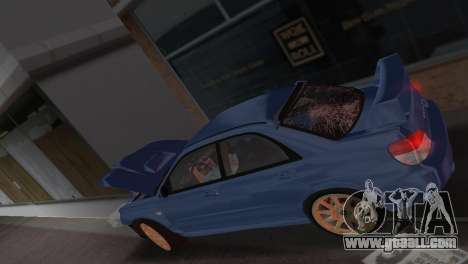 Subaru Impreza WRX STI 2006 Type 1 for GTA Vice City upper view