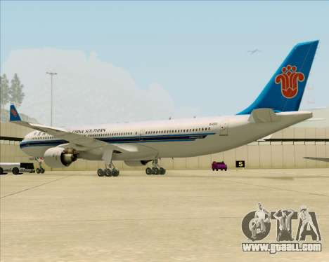Airbus A330-300 China Southern Airlines for GTA San Andreas back view