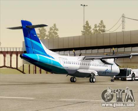 ATR 72-500 Garuda Indonesia Explore for GTA San Andreas back left view