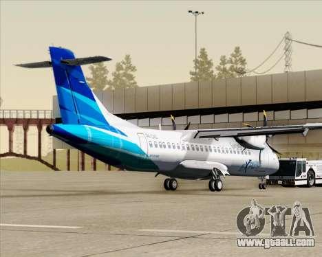 ATR 72-500 Garuda Indonesia Explore for GTA San Andreas back left view