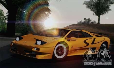Lamborghini Diablo SV 1995 (HQLM) for GTA San Andreas inner view