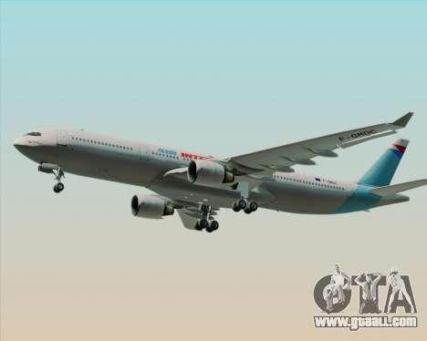 Airbus A330-300 Air Inter for GTA San Andreas inner view