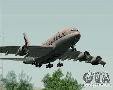 Airbus A380-861 Qatar Airways for GTA San Andreas right view