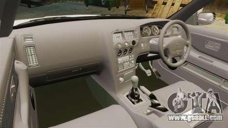 Nissan Skyline R33 1995 Infinite Stratos for GTA 4 back view