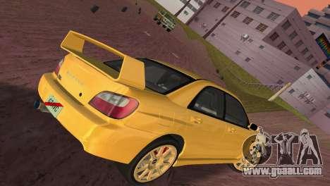 Subaru Impreza WRX 2002 Type 1 for GTA Vice City inner view