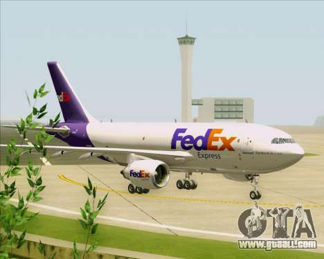 Airbus A310-300 Federal Express for GTA San Andreas back view