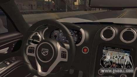 Dodge SRT Viper GTS 2012 for GTA San Andreas back left view
