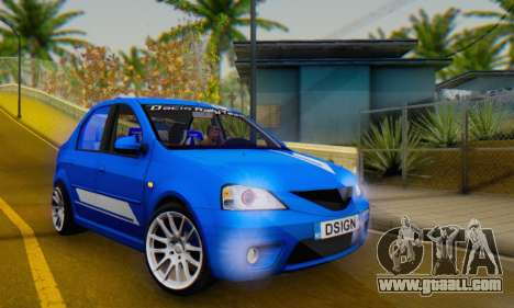Dacia Logan Tuning Rally (B 48 CUP) for GTA San Andreas inner view