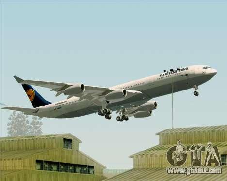 Airbus A340-313 Lufthansa for GTA San Andreas wheels
