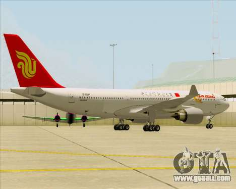 Airbus A330-200 Air China for GTA San Andreas back left view