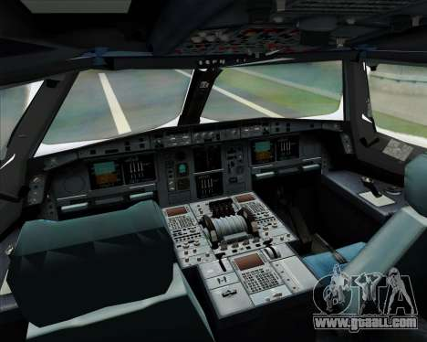Airbus A380-841 Singapore Airlines for GTA San Andreas upper view