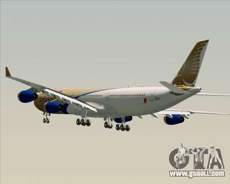 Airbus A340-313 Gulf Air for GTA San Andreas wheels