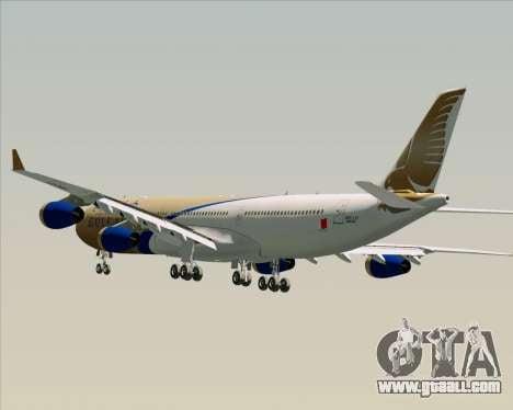 Airbus A340-313 Gulf Air for GTA San Andreas wheels