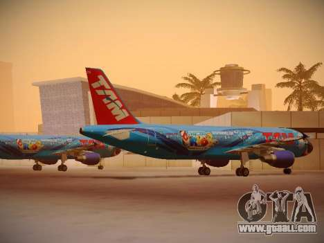 Airbus A320-214 TAM Airlines RIO for GTA San Andreas right view