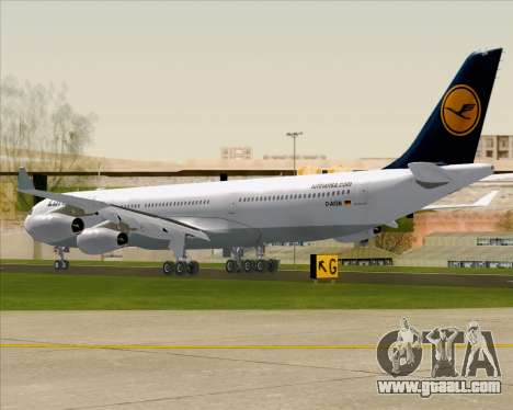 Airbus A340-313 Lufthansa for GTA San Andreas right view