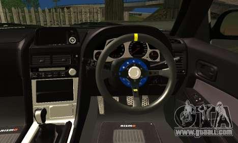 Nissan Skyline GTR R34 for GTA San Andreas back left view