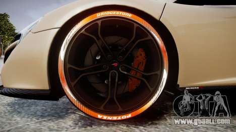 McLaren 650S Spider 2014 [EPM] Bridgestone v1 for GTA 4 back view