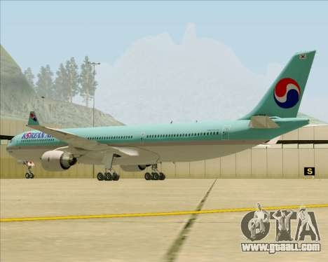 Airbus A330-300 Korean Air for GTA San Andreas back view