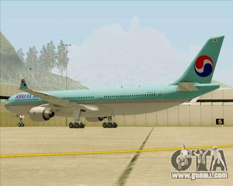 Airbus A330-300 Korean Air for GTA San Andreas back view