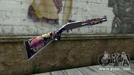 Graffiti Shotgun v3 for GTA San Andreas second screenshot