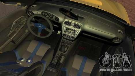 Subaru Impreza WRX 2002 Type 1 for GTA Vice City back view