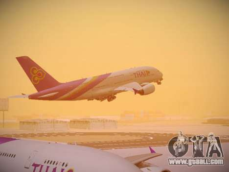 Airbus A380-800 Thai Airways International for GTA San Andreas interior