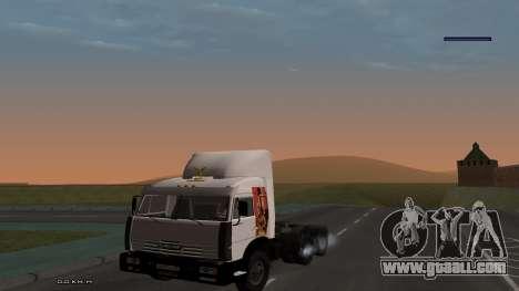 KamAZ 54115 for GTA San Andreas inner view