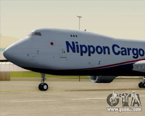 Boeing 747-8 Cargo Nippon Cargo Airlines for GTA San Andreas inner view