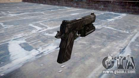 Gun Kimber 1911 Kryptek Typhon for GTA 4 second screenshot