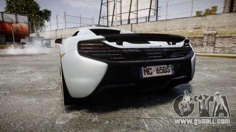 McLaren 650S Spider 2014 [EPM] KUMHO for GTA 4 back left view