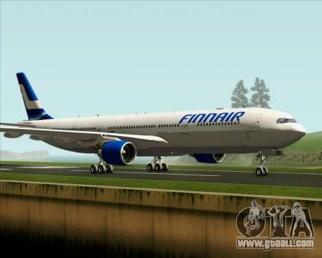 Airbus A330-300 Finnair (Old Livery) for GTA San Andreas left view