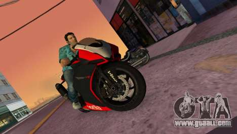 Aprilia RSV4 2009 Original for GTA Vice City back view