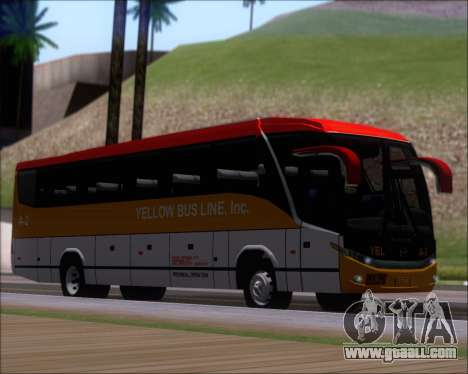 Marcopolo Paradiso G7 1050 Yellow Bus Line A-2 for GTA San Andreas left view