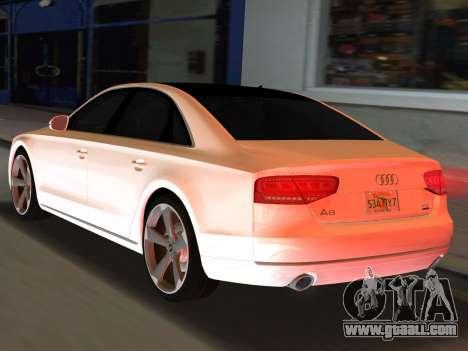 Audi A8 2010 W12 Rim3 for GTA Vice City left view